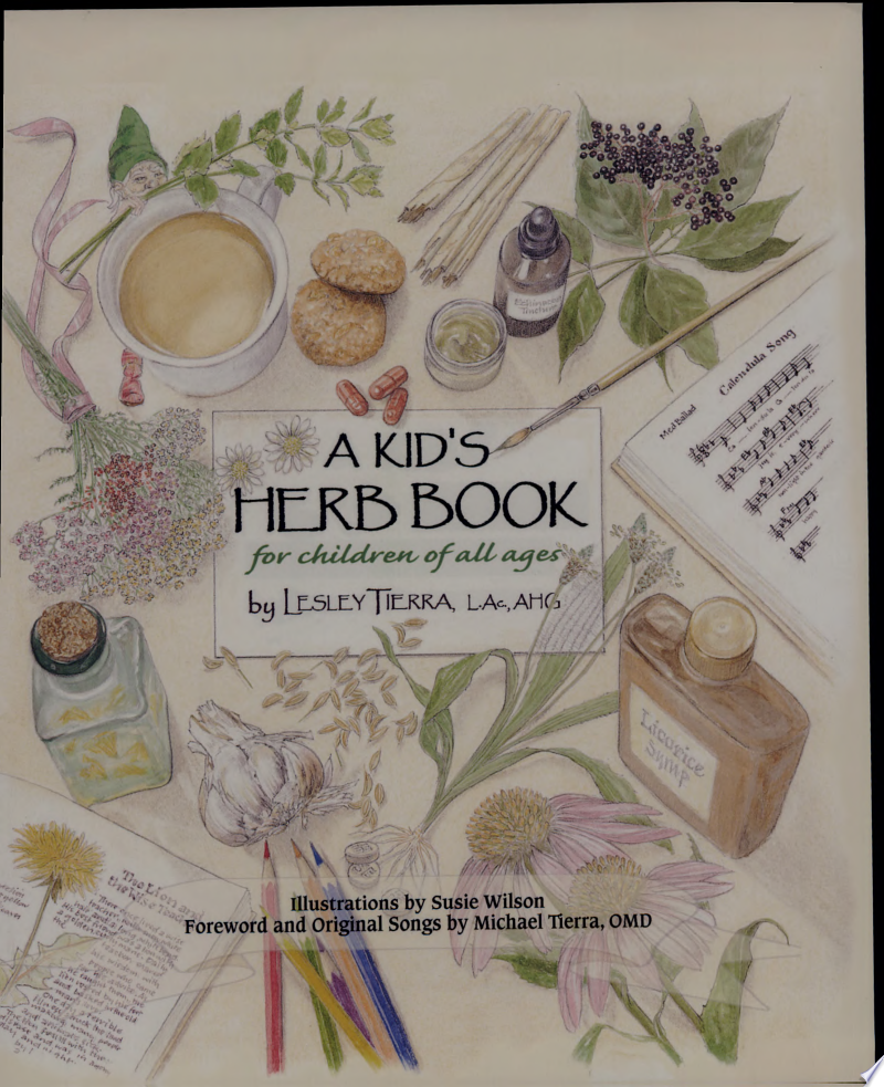 A Kid's Herb Book banner backdrop