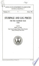 Stumpage and Log Prices for the Calendar Year 1938