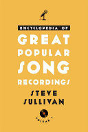 Encyclopedia of Great Popular Song Recordings Pdf/ePub eBook