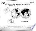 CAB Air Carrier Traffic Statistics
