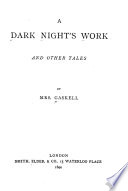 A Dark Night's Work and Other Tales
