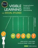 Visible Learning for Social Studies  Grades K 12 Book