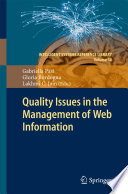 Quality Issues In The Management Of Web Information Book PDF