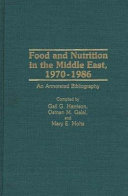 Food and Nutrition in the Middle East  1970 1986