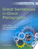 Great Sentences for Great Paragraphs