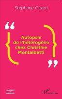 Pdf Autopsie de l'hétérogène chez Christine Montalbetti Telecharger