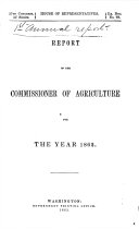 Report of the Commissioner of Agriculture for the Year