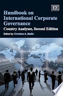Handbook on International Corporate Governance Book