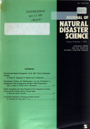 Journal Of Natural Disaster Science Book PDF