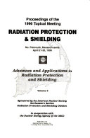 Proceedings of the 1996 Topical Meeting Radiation Protection & Shielding, No. Falmouth, Massachusetts, April 21-25, 1996