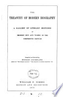 The treasury of modern biography, compiled by R. Cochrane