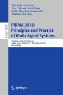 PRIMA 2018: Principles and Practice of Multi-Agent Systems [Pdf/ePub] eBook