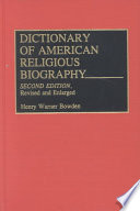 Dictionary Of American Religious Biography