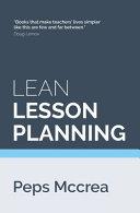 Lean Lesson Planning