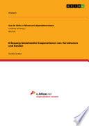 Erfassung bestehender Kooperationen von Versicherern und Banken