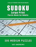 Sudoku Large Print Puzzle Book for Adults