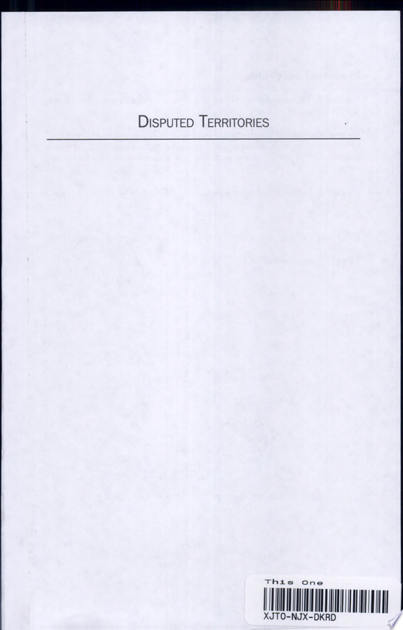 Disputed Territories