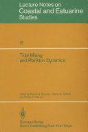 Tidal Mixing and Plankton Dynamics Pdf/ePub eBook