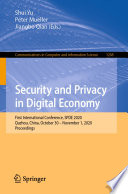 Security And Privacy In Digital Economy Book PDF