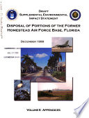 Homestead Air Force Base  AFB   Disposal and Reuse