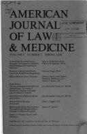 American Journal of Law   Medicine