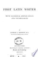 First Latin writer