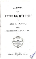 Report of the Record Commissioners of the City of Boston Pdf/ePub eBook
