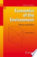 Economics of the Environment