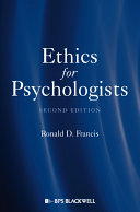 Ethics for Psychologists Book