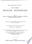 Barclay's Universal English Dictionary, etc. (The Improved London Edition of Barclay's Dictionary, superbly embellished.) With maps