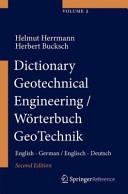 Dictionary Geotechnical Engineering/Wörterbuch GeoTechnik