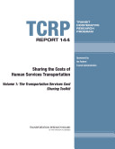Sharing the Costs of Human Services Transportation  Research report