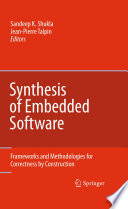 Synthesis of Embedded Software Book