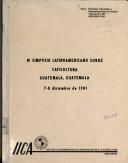 IV SIMPOSIO LATINAMERICANO SOBRE CAFICULTURA GUATEMALA, GUATEMALA 7-8 dieciembre de 1981