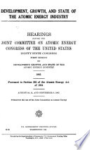 Hearings, Reports and Prints of the Joint Committee on Atomic Energy