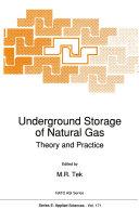 Pdf Underground Storage of Natural Gas Telecharger
