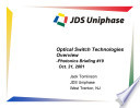 Optical Switch Technologies Overview Photonics Briefing 19 Book PDF