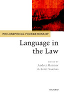 Philosophical Foundations of Language in the Law [Pdf/ePub] eBook