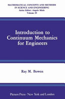 Introduction to Continuum Mechanics for Engineers Book