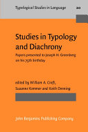 Studies in Typology and Diachrony