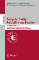 Computer Safety  Reliability  and Security