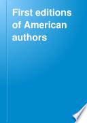 First editions of American authors Pdf/ePub eBook