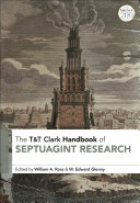 T T Clark Handbook of Septuagint Research
