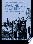 The Routledge Companion To World History Since 1914