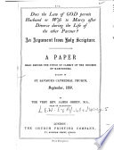 Does the law of God permit husband or wife to marry after divorce during the life of the other partner  A paper Book PDF