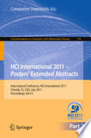 Hci International 2011 Posters Extended Abstracts