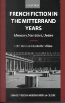 French Fiction in the Mitterrand Years