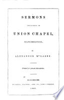 Sermons Preached in Union Chapel  Manchester Book PDF