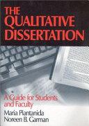 The Qualitative Dissertation