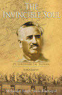 Pdf The Invincible Soul : Pt. Girdhari Lal Salwan -A Biography Telecharger